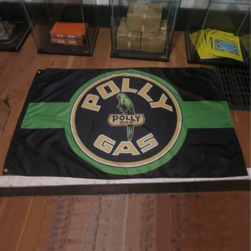Poly Gas Fuel Flag Banner Sign hot rod 32 ford chevy street rod mustang nova av8