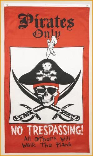 """Pirate Flag 3/' x 5/' /""""Pirates Seulement aucune intrusion tous les autres vont marcher la planche/"""""""