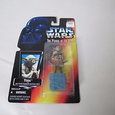 STAR WARS THE POWER OF THE FORCE YODA W/ JEDI TRAINER BACKPACK & GIMER STICK NEW