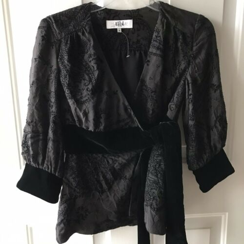 Vintage y2k 2000s Black Tibi Wrap Blouse Never Wor