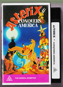 Asterix-Conquers-America-VHS-Video-1994-Vintage