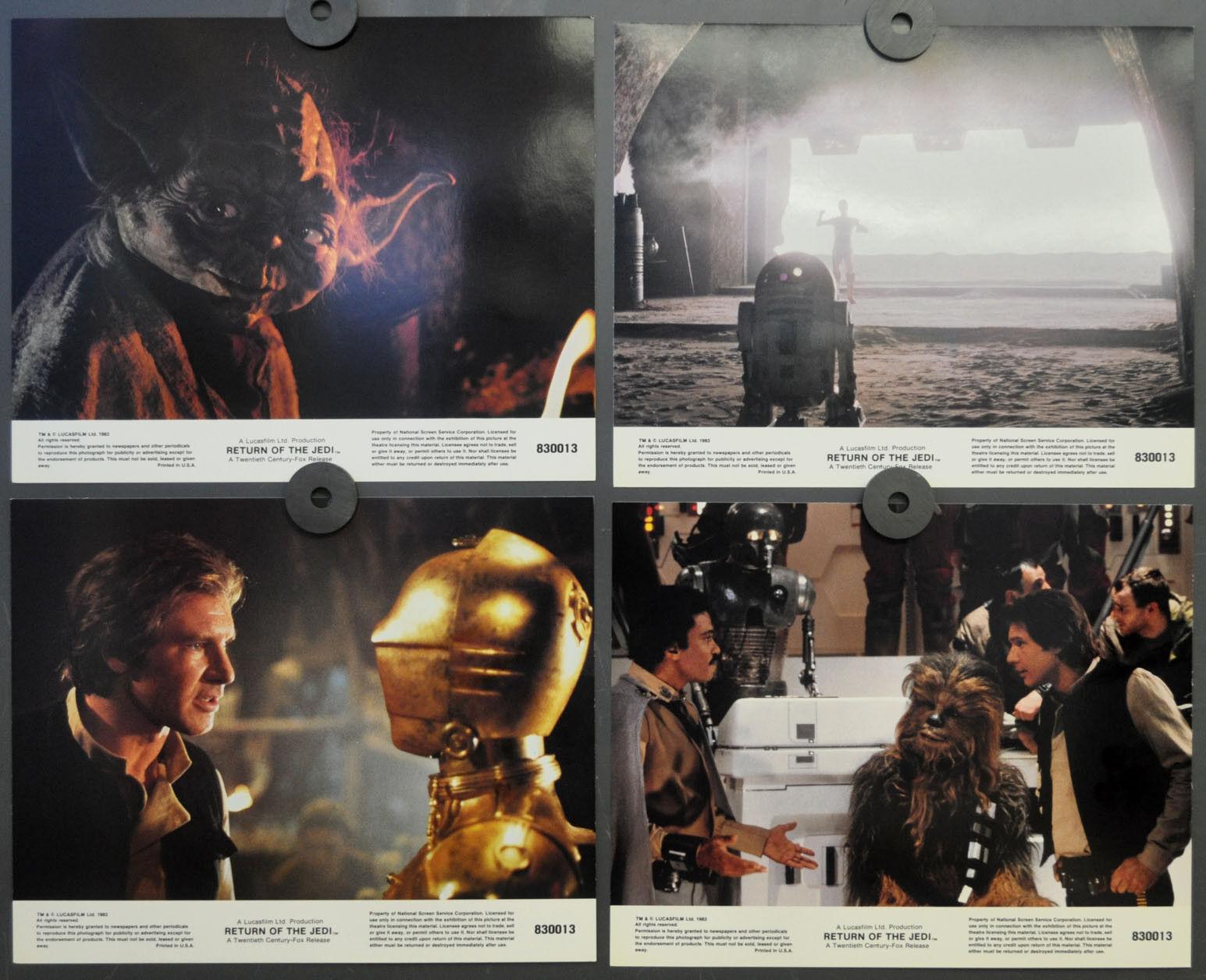 Star Wars Jedi 1983 Orig. Orig. Orig. 8X10 Lobby Karte Set Harrison Ford 085ba2