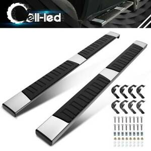 "For 07-18 Silverado/Sierra Crew Cab 6"" Side Step Nerf Bar Running Boards Chrome"