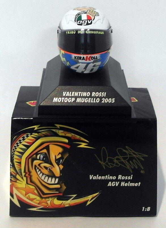 Minichamps 1 8 Scale 398 050076 - AGV Helmet Moto GP Mugello 2005 V. Rossi