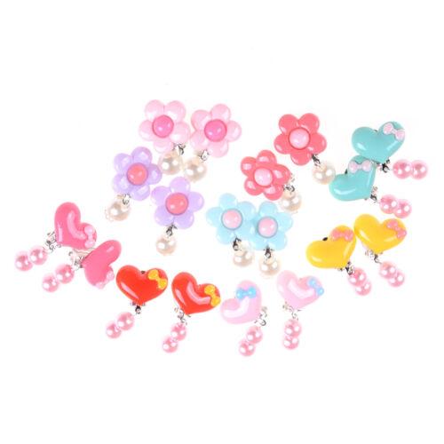 Lovely Kids Earrings Children Clip-On Earrings Party Christmas Girls Gift 9UK
