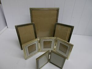 Kw 268 Picture Frames Gold Metal Frames With Glass Bifold Trifold