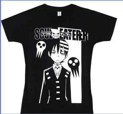 Soul Eater Black Death Men's short-sleeved T-shirt Cosplay Costume