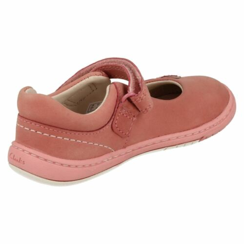 Girls Clarks Softly Wow Fst Leather First Walking Shoes