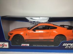 Maisto - 2020 Ford MUSTANG SHELBY GT500 Orange, 1 / 18 ...