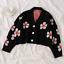 Women-Sweater-High-Elastic-Preppy-Style-Flower-Slim-Sexy-Cardigan-V-Neck-Knit thumbnail 2
