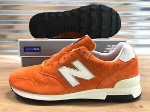 New-Balance-x-J-Crew-1400-Classic-Running-Shoes-USA-Orange-Suede-SZ-M1400JC