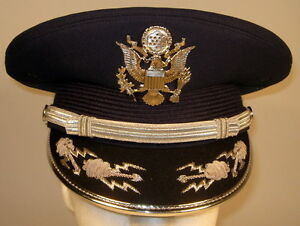 320e83217bf9 US Air Force Male Band or Honor Guard Field Officer Dress Hat Cap 7 ...