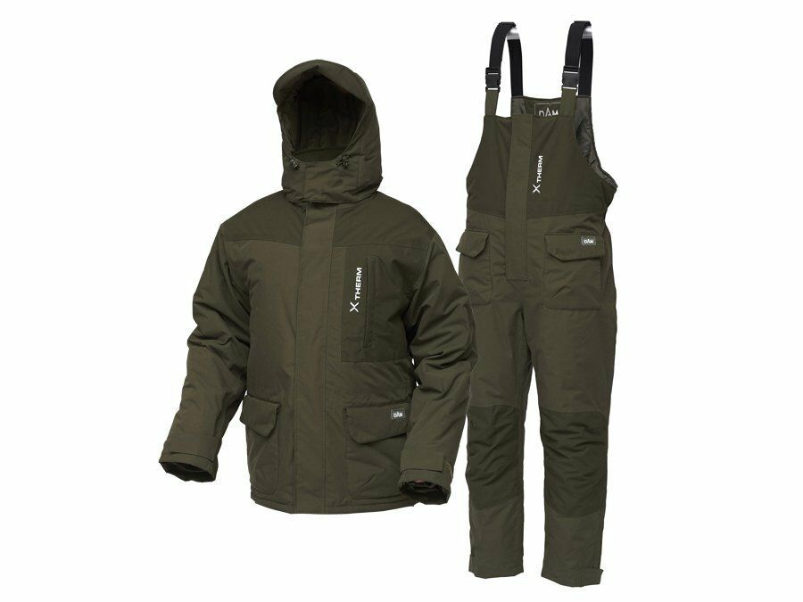 D.A.M Xtherm Winter Suit M  XXXL 2pcs thermo suit 100% polyester nuovo 2019