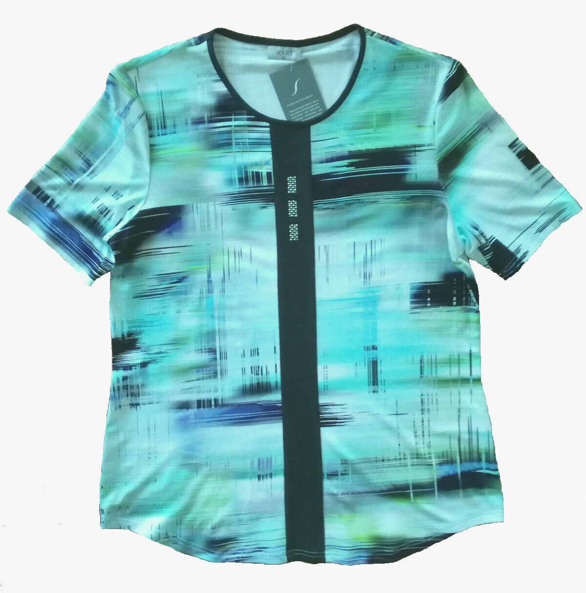 Seidel Moden Blausenshirt Blausenshirt Blausenshirt 1 2 Arm weiss-blau-grün-türkis Aquatöne Damenshirt | Sale Düsseldorf  | Ab dem neuesten Modell  63da33