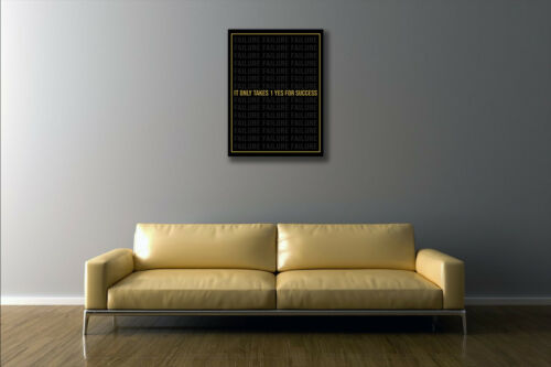 It Only Takes 1 Yes for success Canvas Print PreStretched Grind Hustle JDM