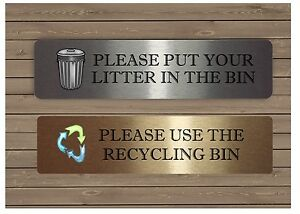 Image Is Loading VITAL SIGNS Litter Bin Recycling SILVER GOLD Or