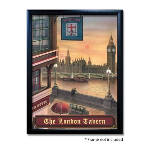 LONDON TAVERN PUB SIGN POSTER PRINTHome BarMan CavePub Memorabilia