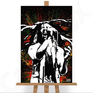 Bob Marley Music Legend Large Poster Art Print Gift A0 A1 A2 A3 A4 Maxi