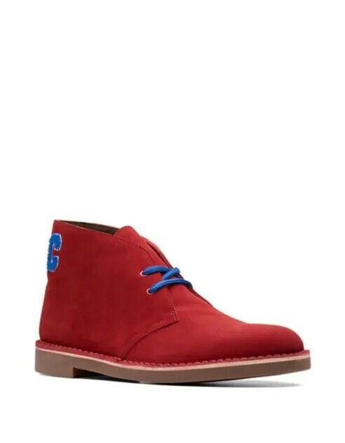 Nuevas botas Desierto Clarks Bushacre 2 Chukka Zapatos de trabajo US9 Rojo Tobillo Chelsea