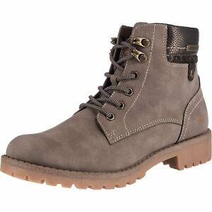 Details zu Dockers by Gerli Damen 43FA307 Stiefel Dessert Boots Combat Boots Taupe