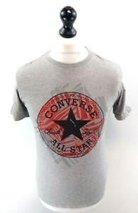 Converse-Herren-T-Shirt-Top-S-small-grau-Baumwolle