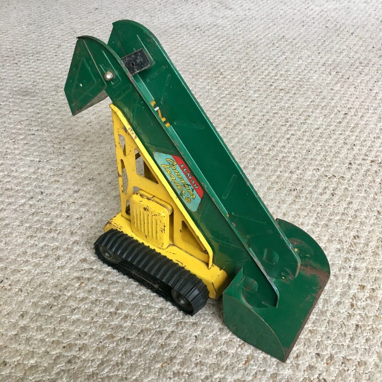 Vintage 1950s Marx Lumar Pressed Steel Conveyor Loader - Made in USA- RARE