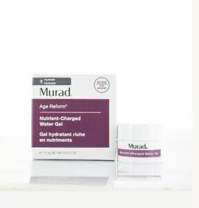 Murad alter Reform Nährstoff-Charged Wasser Gel 7.5ml Reisegröße-NEU in Box