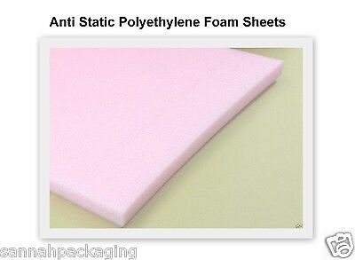 "Anti Static Polyethylene Foam Sheets 6"" x 12"" x 0.5"" (Qty:12)"