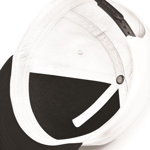 Beechfield Boys Girls Cotton Classic Snapback Adjustable Rapper Baseball Cap