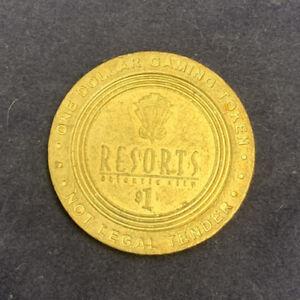 Resorts-Atlantic-City-vintage-limited-edition-1-Dollar-gaming-slot-token-1
