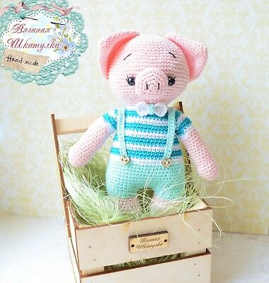 Amigurumi pattern for a dancing Gunter pig. Crochet piglet | 400x380