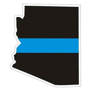 Arizona-AZ-State-Thin-Blue-Line-Police-Sticker-Decal-172-Made-in-U-S-A