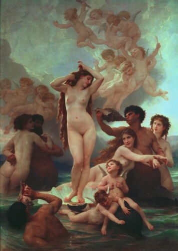 William Adolphe Bouguereau Birth of Venus Giclee Canvas Print Paintings Poster