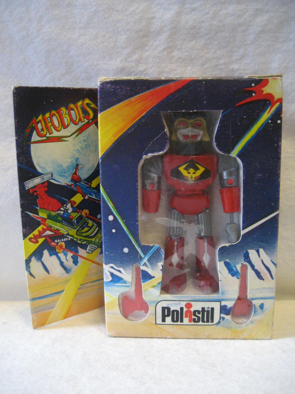MIB vintage Italian UFOBOTS chogokin diecase metal giocattolo 4  RARE Polistil ROBOT