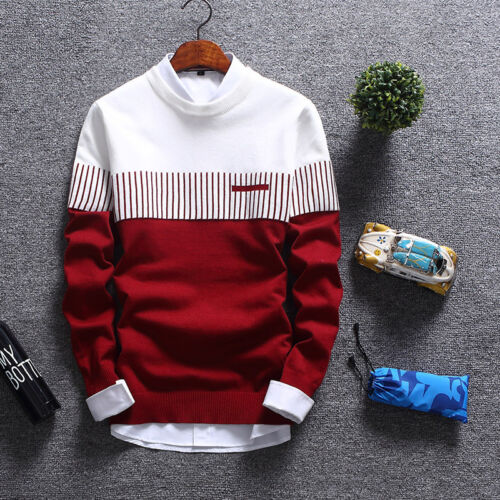 Men Knit Pullover Fashion Cardigan Sweater Jacket Jumper Long Sleeve  Coat