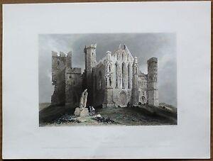 1842-Bartlett-print-RUINS-OF-CASHEL-COUNTY-TIPPERARY-IRELAND-109