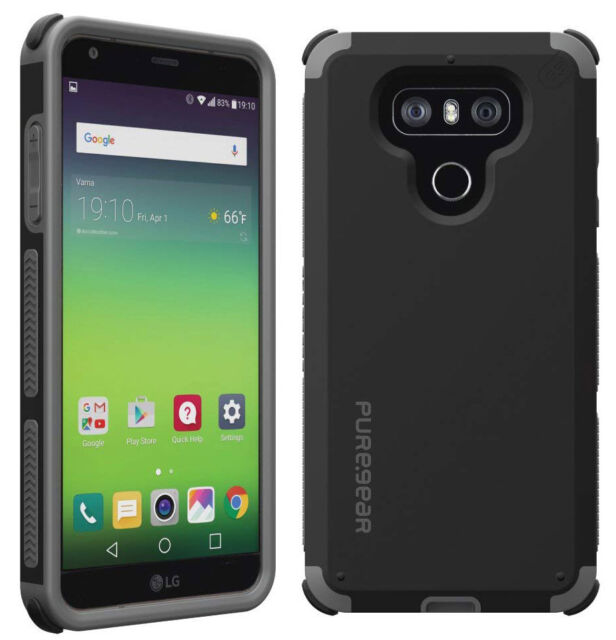 low priced f35f1 2d1cd PureGear Matte Black Dualtek Extreme Rugged Case Cover for LG G6