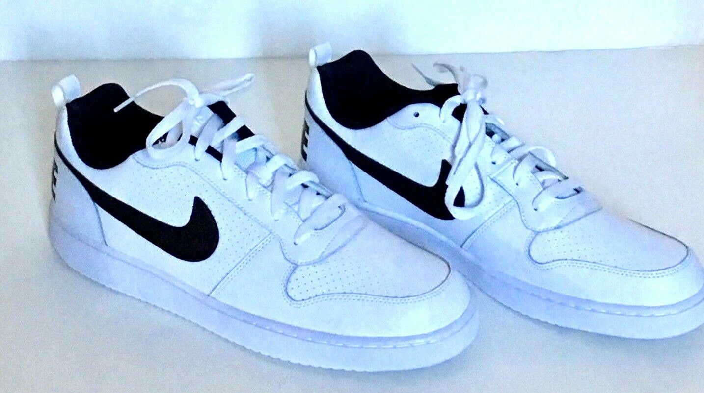 Nike Court Bgoldugh Low  White Black Mens size 13