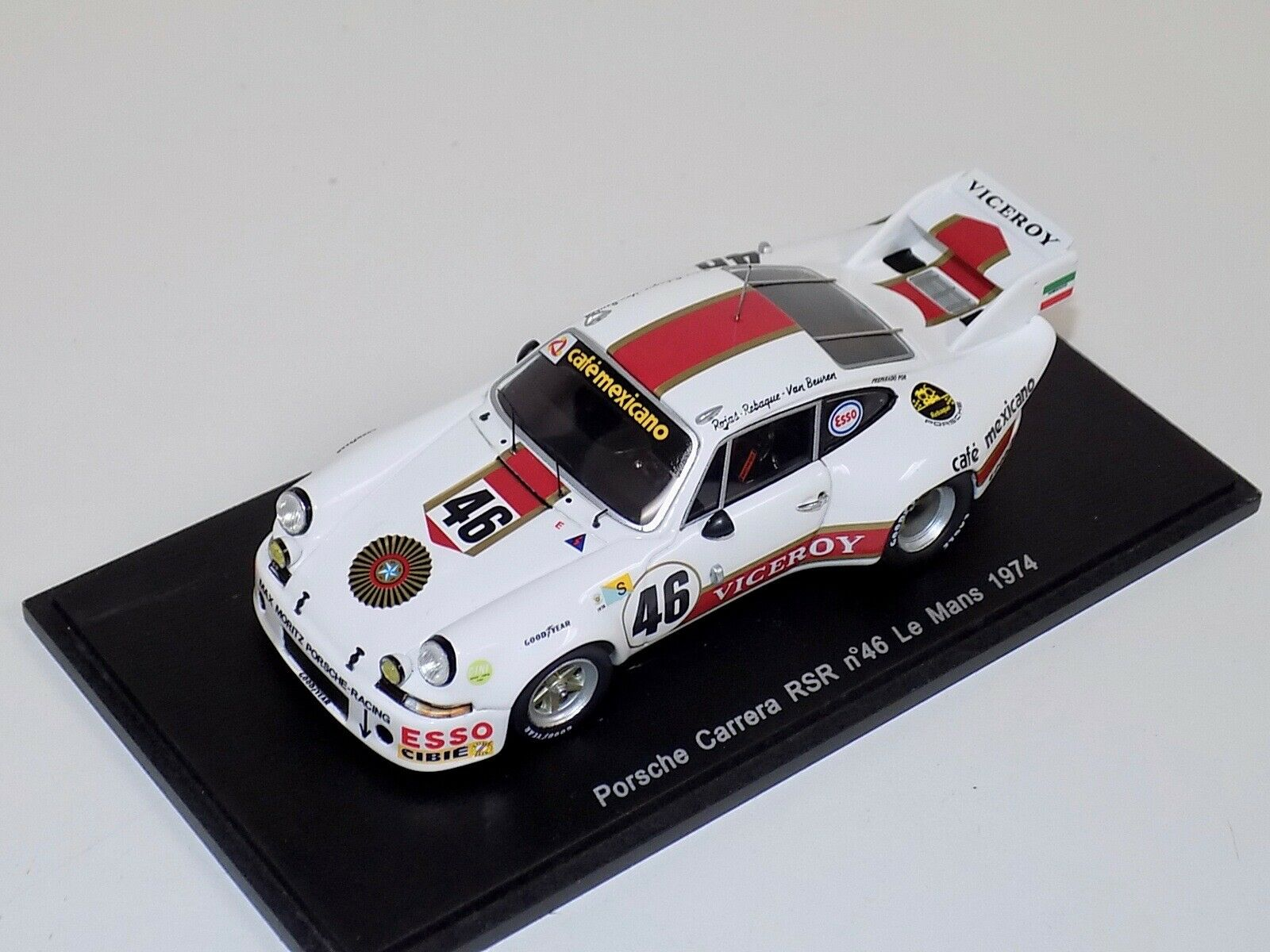 1 43 Spark Porsche 911 RSR Carrera Car  Viceroy  1974 24 H LeMans  S3399