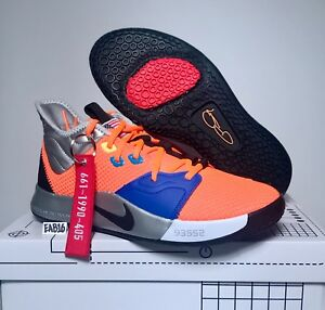 5cdf10f5ed5e Nike PG 3 Paul George x NASA Total Orange Black Metallic Silver PG3 ...