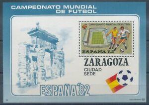 100% Vrai 289875) Espagne ** Bandes Bloc Pour Football Coupe Du Monde 1982-afficher Le Titre D'origine
