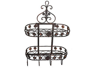 wandregal handtuchhalter badregal h ngeregal k chenregal antik metall nostalgie. Black Bedroom Furniture Sets. Home Design Ideas