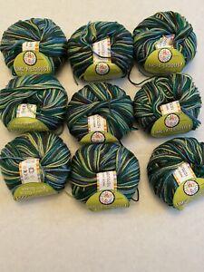 Lot-Of-9-Fashion-Journeys-Lime-A-Licious-Fluffy-Soda-Pop-Scarf-Yarn-Green