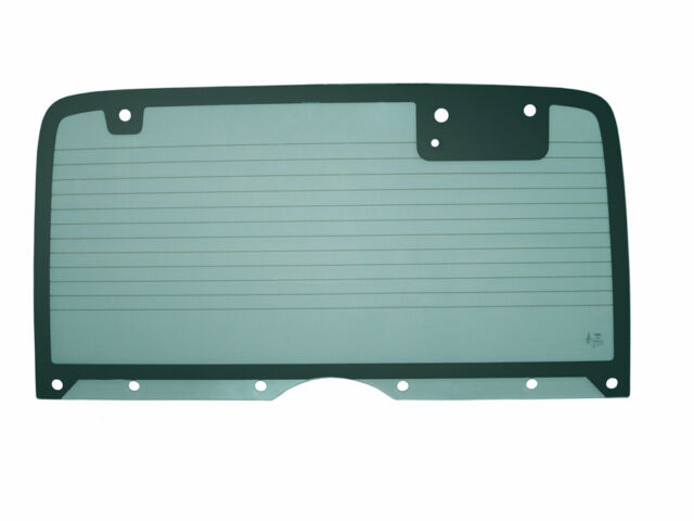 Rear/Back Glass (Non-Heated w/10 Holes) - Green Tinted, For Wrangler YJ, 87-95