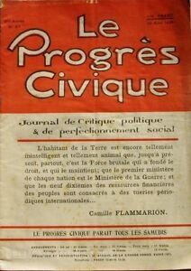 Soigneux Le Progrès Civique N°87 1921 - Journal De Critique Politique - Henri Dumay Rare