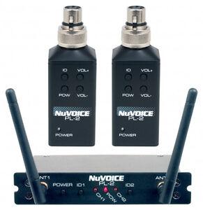 NEW-Vocopro-Nuvoice-PL2-Dual-Plug-On-Wireless-Transmitter-System-MAKE-OFFER