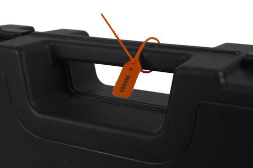 20 x orange plastique sécurité balises numéroté pull liens secure anti-tamper SCEAUX
