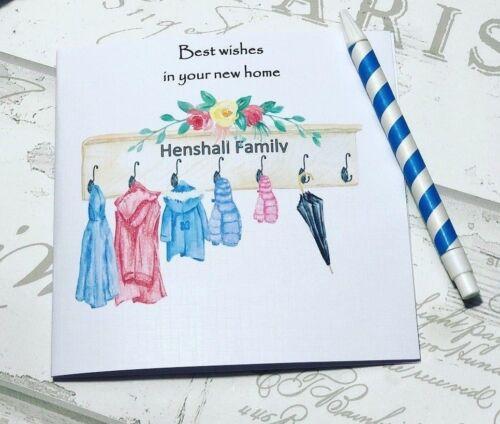 Keepsake New Home  Personalised handmade card for men /& Women//Shabby Chic
