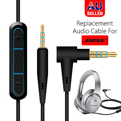 QuietComfort 25 35 Headphones Audio Replacement Cable with in-Line Mic Remote Volume Control Compatible with Bose QC25 Audio Cord Compatible with Samsung Galaxy Huawei Android QC35 QC35II