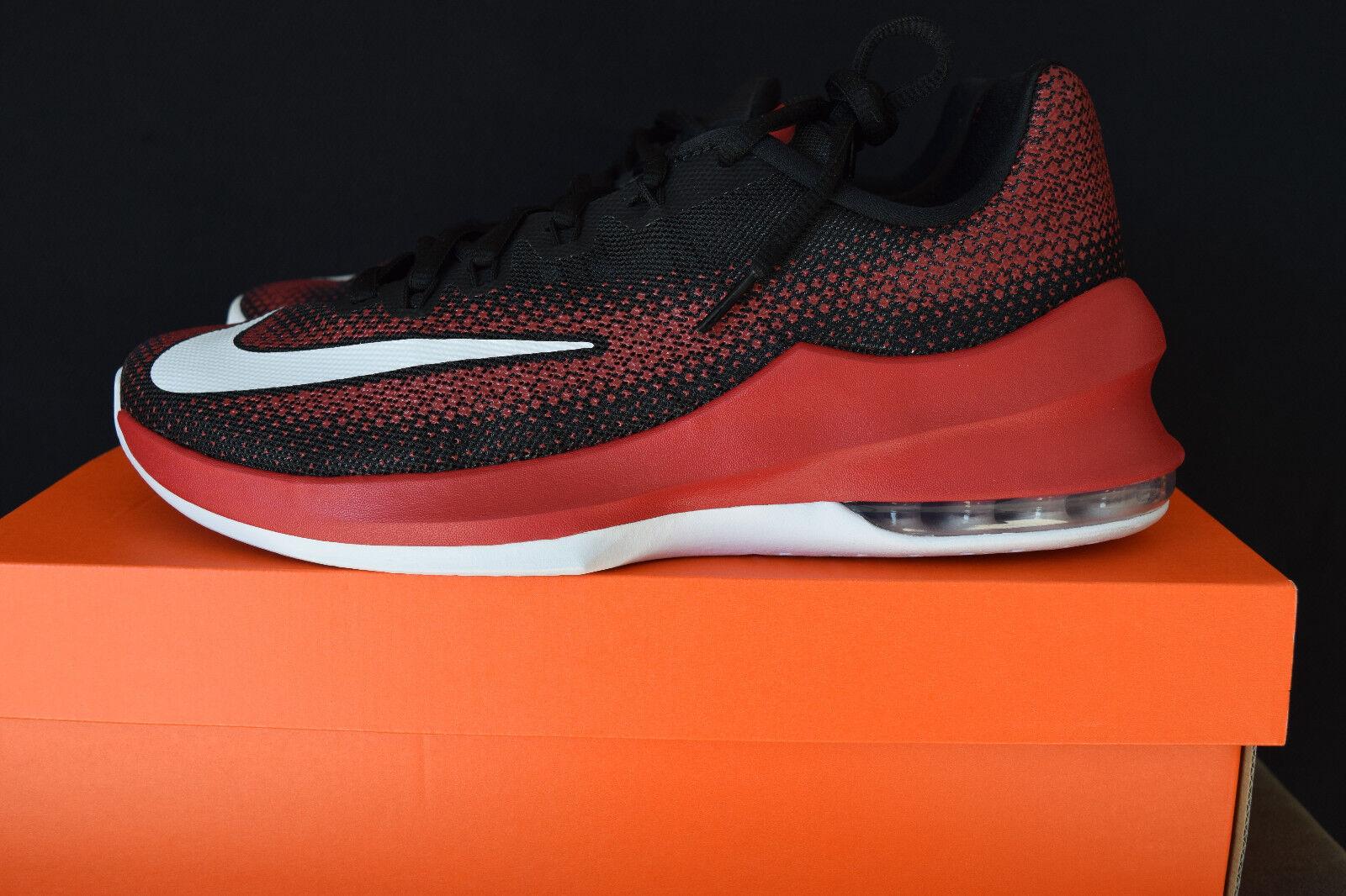NIB Nike Air Max Infuriate Low Mens Training Shoes Sz 10.5 Red White Black
